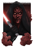Darth Maul and Roses by KaelaCroftArt