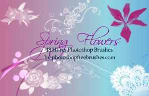 Spring Flowers: 18 PS Brushes by fiftyfivepixels