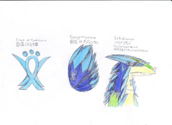 Digimon - My Fanmade Crest, DigiEgg, and Armour by WaywardPlatypus