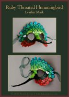 Hummingbird Leather Mask by windfalcon