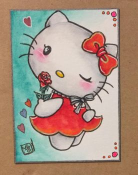 Sep MT - Hello Kitty Rose by ParadoxSketchbook