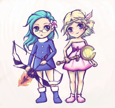 Cyuna and Sereta by naeomi-chan
