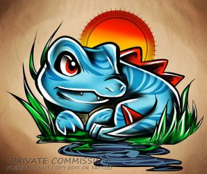 Totodile commmission by RetkiKosmos