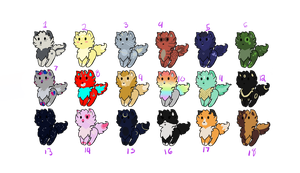 Cat Adoptables - [OPEN] by Bronze-Adopts