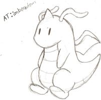 AT: Chibi Dragonite by NeonNeoz
