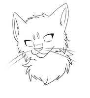 Free Cat Headshot by Kyaflufflewolf