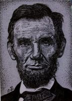 Abe Lincoln on ATC in pen by TinyAna
