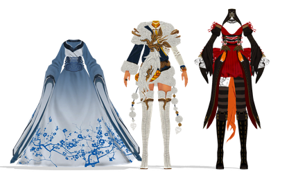 MMD: BnS fem outfits dl by Donkewi