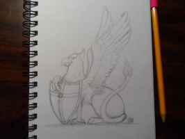 Sketch Dailies: Griffin by bunnykissd