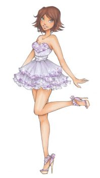 DH: Rapunzels prom dress by Nina-D-Lux