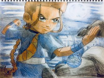 Avatar the last Airbender:The greatest Waterbender by artdemaurialashawn21