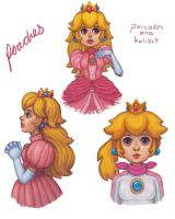 Princess Peach Sketches by pancakesandhalibut