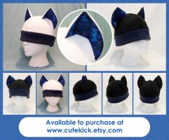 Space Cat Hat with Gold Sparkles by cutekick