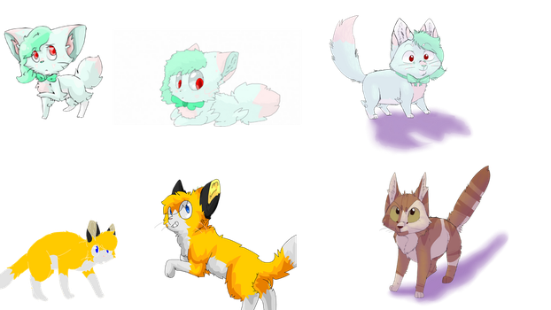Evolution of Emberpaw and Laurel by Gggggmicro2Icewind
