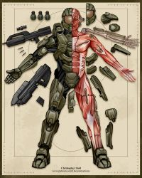 Master Chief Deconstructed by Christopher-Stoll