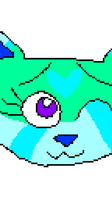 (T) - Feather's two sides (headshot pixel GIF) by ShadowTheLeader
