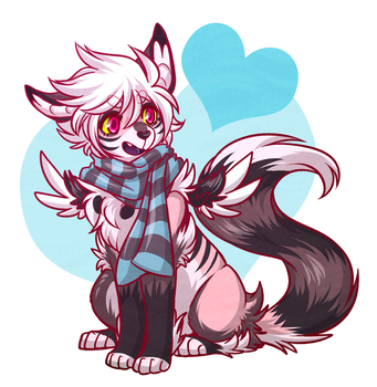 A cozy scarf for Luka! by ThatWildMary