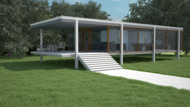 VRayForC4D Exterior Building test by DigitalMistDesigns