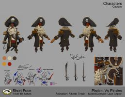 Pirates vs Pirates Character Art by KevinMassey