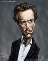 Dr HOUSE caricature by macpulenta