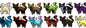 Fantasy Cat Adopts by PteraDragon
