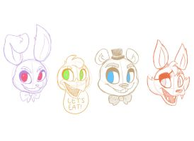 Five Nights at Freddy's Character Designs by JaidenAnimations