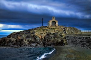 Chapel, Collioure, France by MichelLalonde