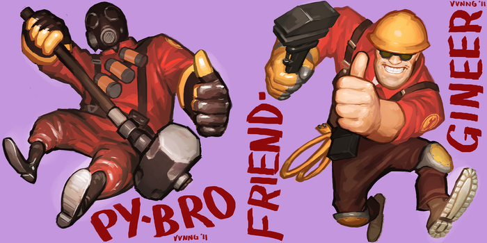 PYBROS and FRIENDGINEERS by Doodle-Master