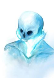 Ice Skull Doodle by Viper-mod