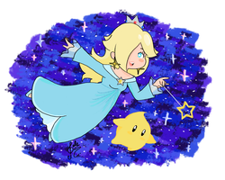 Rosalina and Luma by PoriPorii