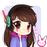 NERF THIS! (D.Va Chibi Icon) by Mimyoi