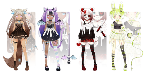 Collab | Sweet Treat Lockettes | OPEN by kawaii-antagonist