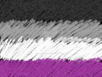 Asexual Pride Flag (Black Background) by NightshadeCreepypasa