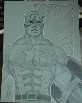 Captain America by Jeremy Dale by SunGryphon