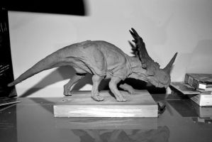 Styracosaurus Sculpture by CamaraSketch