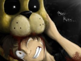 Big kiss/bite of 87 - five Nights at Freddy's 4 by NicoleTheBlueCat