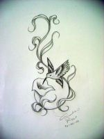 hummingbird design tattoo by gilrizzo