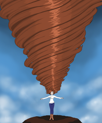 Wind in the hair (Oc Art) by Ultimateportalmaster
