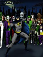 Batman and Villains by Mbecks14