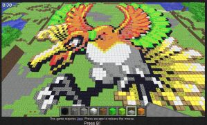 Minecraft Ho-oh by Phenri