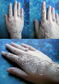 Wire Wrapped Henna Bracelet by RachaelsWireGarden