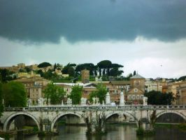 Storm over Rome by st2wok