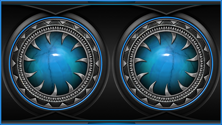 Wallpaper blue by Alienware Asus by FAFA116
