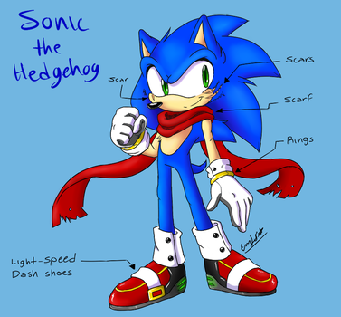 Redesign Challenge - Sonic the Hedgehog by Pichi-08