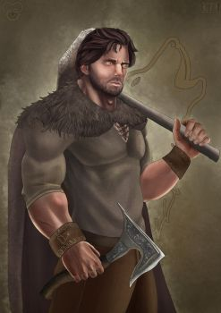 Perrin Aybara  The Wolf King by cagdasdemiralp