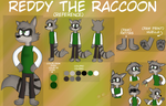 Reddy the raccoon reference by vale1hdz