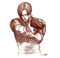Leon, Resident Evil 2 by Seeso2D