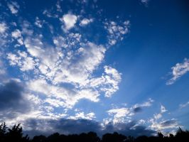 Cloudy blue sky - Two by Altair-E-Stock