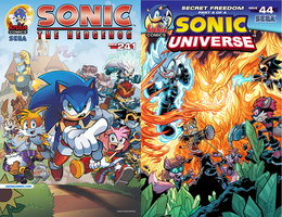 Sonic the Hedgehog #241 and Sonic Universe #44 by LeaderInBlue84