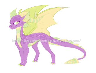 Fusion Commission: Spike + Spyro by SleepyDemonMonster